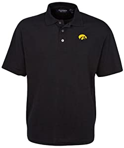 Oxford NCAA Iowa Hawkeyes Mens Classic Pique Polo by Oxford