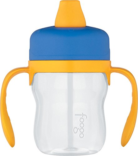 THERMOS FOOGO 8-Ounce Soft Spout Sippy Cup with Handles, Blue/Yellow