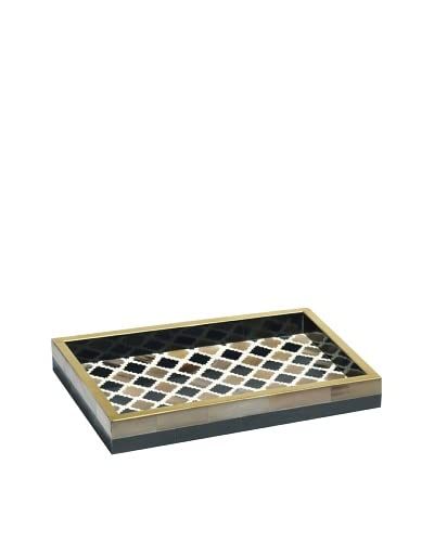 Mela Artisans Morocco Decorative Tray, Small, Natural, 12x8x1.4