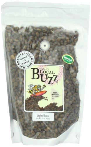 Hawaii'S Local Buzz Whole Bean Coffee, Light Roast, 15 Ounce