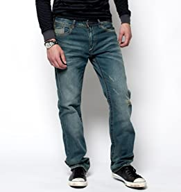 Straight Leg 5-Pocket Jeans