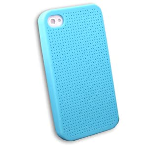 Cross Stitch kit Silicone Case cover for Apple iPhone 4 Blue