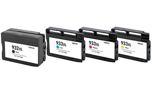 Prestige Cartridge HP 932XL / HP 933XL 4-er Pack Druckerpatronen für HP Officejet 6100, 6600, 6700, 7110, 7600, 7610, 7612, schwarz / cyan / magenta / gelb