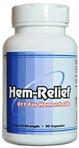 Hem-Relief for Hemorrhoids (Clinical Strength 90 Capsules)
