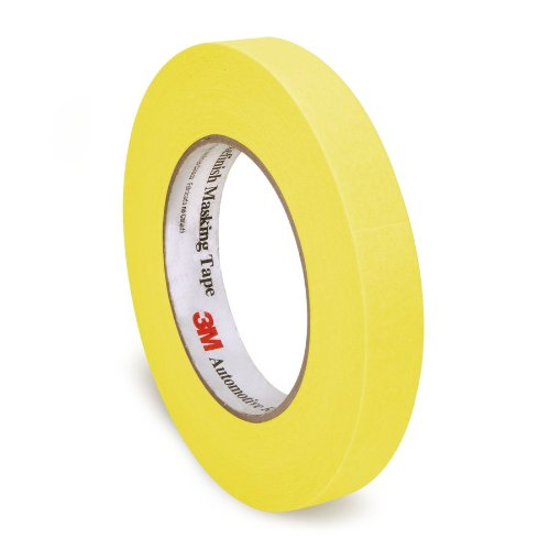 3M 06652 18 mm x 55 m Automotive Refinish Masking Tape, Pack of 48 (3m Yellow Tape Automotive compare prices)