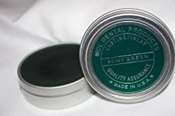 Dental Carving Inlay Wax 2oz Tin - Two Pack - Blue & Green
