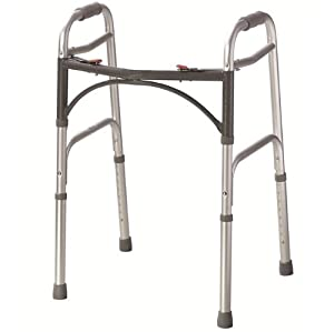 Folding lightweight aluminium walking zimmer frame walker
