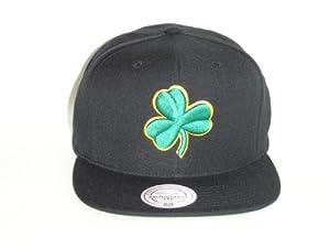 Mitchell and Ness NBA Boston Celtics Black Logo 2 Tone Snapback Cap by Mitchell & Ness