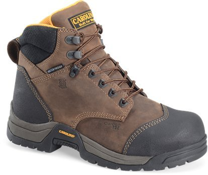 "Carolina Shoe Men'S 6"" Esd Waterproof Composite Broad Toe Work Boot (Bandit Potting Soil 12.0 2E)"