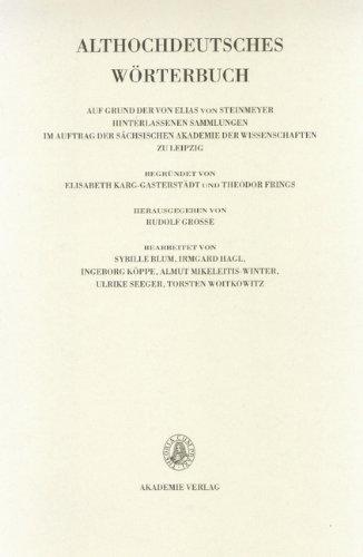 Althochdeutsches Wörterbuch: Band V: K-L, 1./2. Lieferung (K bis kezzil)