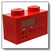 LEGO Alarm Clock Radio - Red