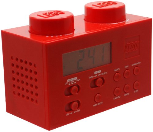 alarm digital tuner radio cd player digital blue lego alarm clock radio red. Black Bedroom Furniture Sets. Home Design Ideas