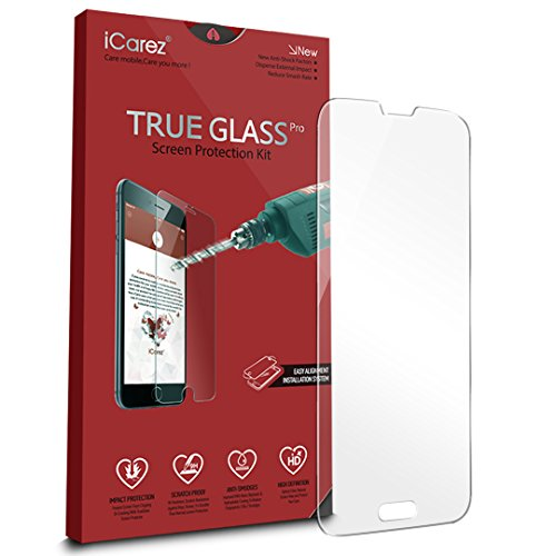 S5 Screen Protector, iCarez [Tempered Glass] Screen Protector for Samsung Galaxy S5 Anti Scratch Premium [1-Pack, 0.33mm 9H, 2.5D] Easy Install with Lifetime Replacement Warranty (S Health Samsung compare prices)