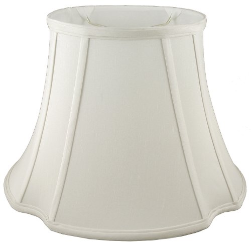 American Pride Lampshade Co. 19-78091517 Oval Soft Tailored Lampshade, Shantung, Off-white