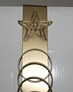 Over door christmas card holder gold star for Door xmas card holders