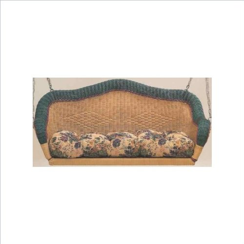 Blazing Needles Wicker Porch Swing Cushion front-658975