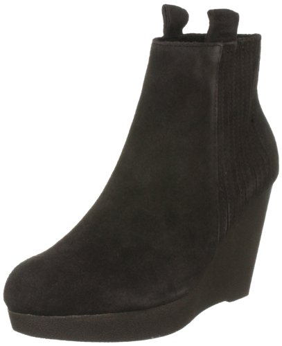 Calvin Klein Jeans Suzie Suede Womens Ankle Boots Dark Brown 9 UK, 41 EU