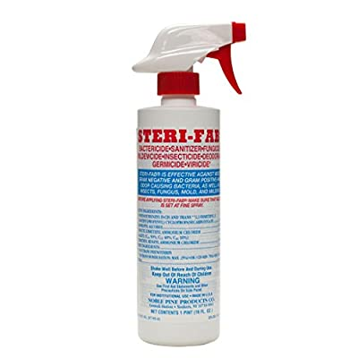 Sterifab Sanitizer Bed Bugs Pest Control One Case (12 16 oz bottles) by Noble Pine