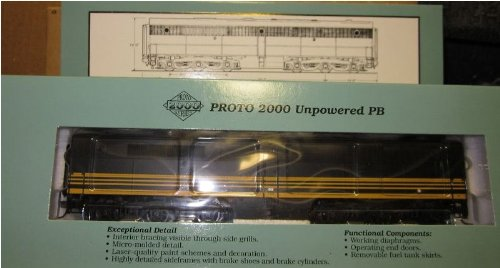 Limited Edition Proto 2000 21675 HO PB Dummy Diesel Locomotive D&RGW #601