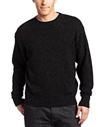 Pendleton Men\'s Shetland Crew Sweater,Black Heather,X-Large