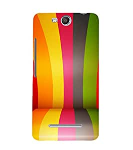printtech Colored Line Pattern Back Case Cover for Micromax Bolt Q338