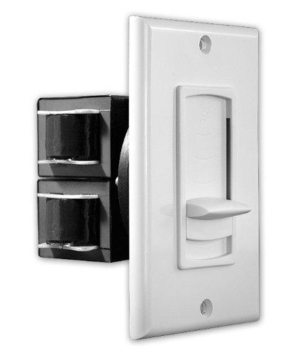 Osd Audio Vms100 100-Watt Decora Style In-Wall Impedance Matching Slider Volume Control (White, Ivory, Almond)