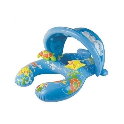 Inflatable Pool Float with Canopy Seat Keeps Baby Safe and Mom Close-By 8-24 Months by Poolmaster online kaufen