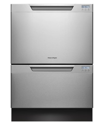 Fisher Paykel DD24DCHTX7 24 Drawer Dishwasher, Built-In Water Softener - Stainless Steel (Fisher And Paykel Dish Drawer compare prices)