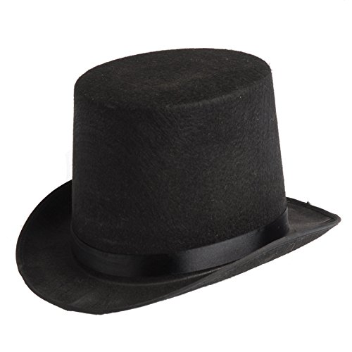 Import Coachman Hat Black Only Victorian Top Hat Tall Topper 560