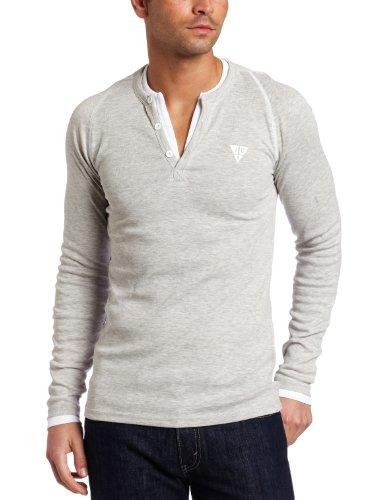 J.C Rags Men's The Rib Layer Henley Shirt