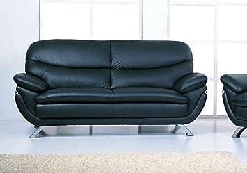 Jonus Sofa | Black Italian Leather