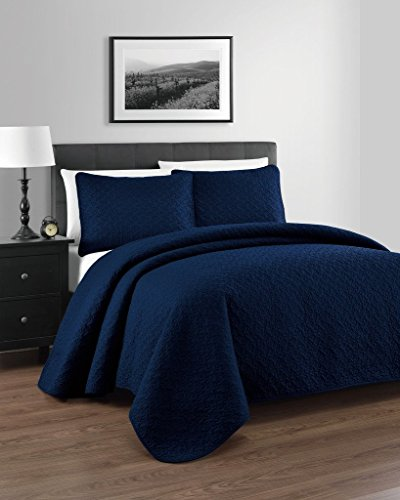Zaria Quilted Coverlet Set With Stitched Pattern - 2 Pieces - (Twin Quilted Coverlet compare prices)