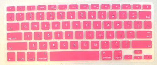 Generic Keyboard Silicone Skin Cover For New Aluminum Unibody Macbook Pro, Pink