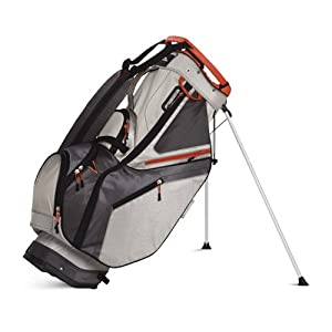 Sun Mountain 2015 C-130S Stand Bag (No Logo) Ti/Gunmetal/Orange - CLOSEOUT