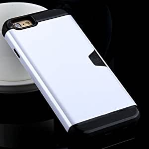2015 New Arrival Luxury Top Quality Korean Style Soft Tpu Hard Pc Hybrid Case For Iphone 6 4.7Inch Kickstand Armor Full Cover Sliver-Sliver