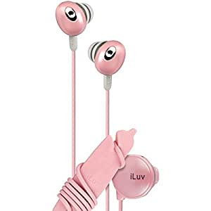 iLuv iEP311PNK The Bean In-Ear Stereo Earphone with Volume Control - Pink
