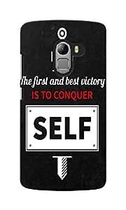 KnapCase Conquer Self Designer 3D Printed Case Cover For Lenovo K4 Note