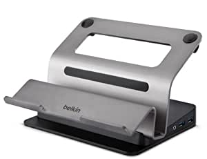 Belkin USB 3.0 Dual Video Docking Station with Elevated Loft Stand for Laptops/MacBooks/Ultrabooks with USB 3.0 Charging Port