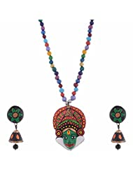 ARTOPIAA Terracotta Jewellery Set ART_033 For Women ( Green )