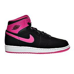 Air Jordan 1 Retro High GG Big Kid\'s Shoes Black/Vivid Pink/White 332148-008 (6.5 D(M) US)