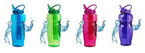32 Ounce Easy Freeze Water Bottle, Solstice, Bpa Free, Pvc Free, Phthalates Free, Assorted Colors