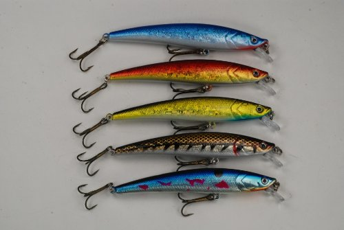 Akuna Minnow Crankbaits Fishing Lure (Pack of 5), 4.3-Inch