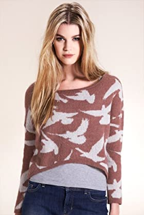 Limited Collection Bird Cropped Knitted Top With Mohair