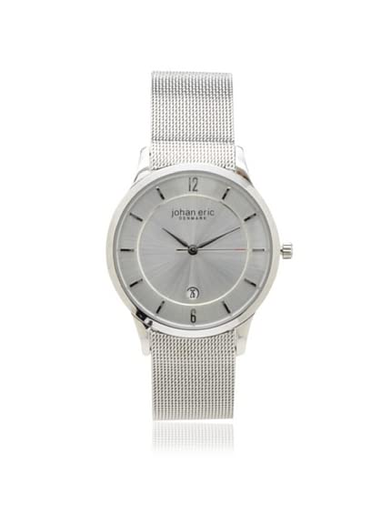 Johan Eric Men's JE2000-04-001 Silver Hobro Mesh Stainless Steel Watch