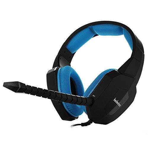 Badasheng BDS-939P 高音質、高感度、軽量なゲーミングヘッドセット 脱着式マイク PS4/Xboxone/Tablet/PCに対応「ブルー」