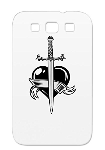 Heart Amp Sword Silver Love Blade Knives Switch Shiv Switchblade Hearts Knife Brake Weapon Broken Break Cutting Dagger Stiletto Cut For Sumsang Galaxy S3 Cover Case