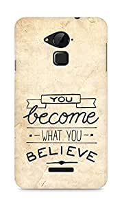 AMEZ you become what you believe Back Cover For Coolpad Note 3