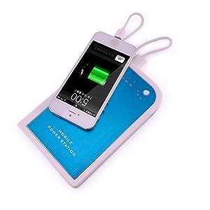 12000mah Power Bank 4 LED Light Backup External Battery Protable Charger Dual USB Port for Apple Iphone 6, 6 Plus 5s 5c 5 4s 4, Retina Ipad Air Mini 2, HTC One, One 2 (M8), Samsung Galaxy S5 S4 S3, Tab 4 3 2 Pro, Nexus 10 , Moto X G Droid, Ps Vita, Motorola Razr; Lg G3 Optimus, Psp, and More Smartphones & Tablets