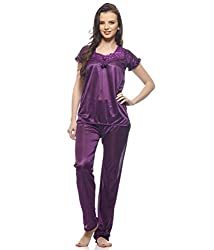Jp Enterprise Satin Night Suit Top and Payjama