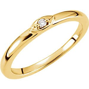 IceCarats Designer Jewelry 14K Yellow Gold Diamond Ring. Size 6